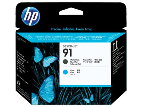 Đầu in HP 91 Matte Black and Cyan Printhead (C9460A)