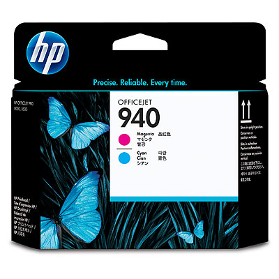 Đầu in HP 940 Magenta and Cyan Officejet Printhead (C4901A)
