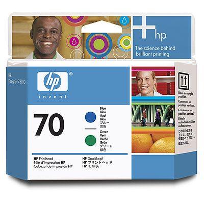 HP 70 Blue and Green Printhead (C9408A)