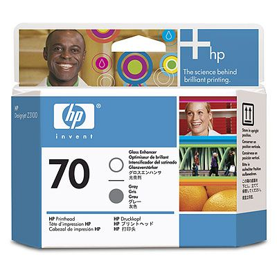 HP 70 Gloss Enhancer and Grey Printhead (C9410A)