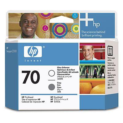 HP 70 Gloss Enhancer and Grey Printhead (C9410A)