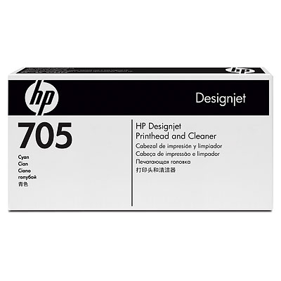 HP 705 Cyan Designjet Printhead and Cleaner (CD954A)