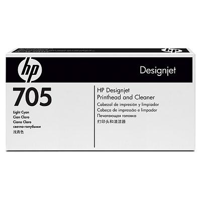 HP 705 Light Cyan Designjet Printhead and Cleaner (CD957A)
