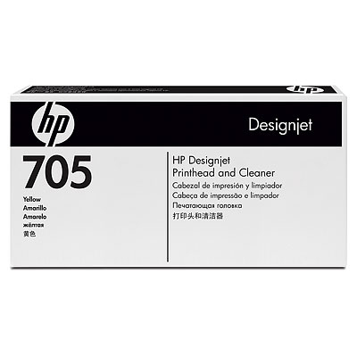 HP 705 Yellow Designjet Printhead and Cleaner (CD956A)