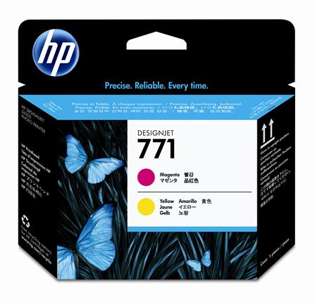 HP 771 Magenta and Yellow Designjet Printhead (CE018A)
