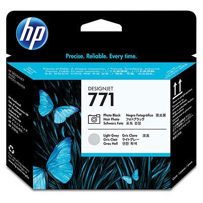 HP 771 Photo Black and Light Gray Designjet Printhead (CE020A)
