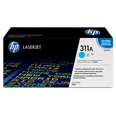 Mực in HP 311A Cyan LaserJet Toner Cartridge (Q2681A)