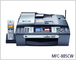 Máy in Broher MFC 885CW, Wifi, In, Scan, Copy, Fax, In phun màu