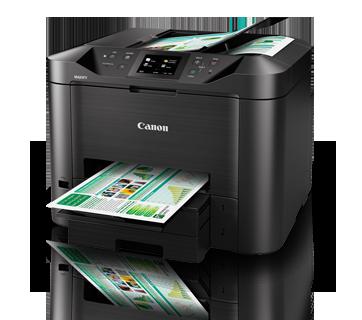 Máy in Canon MAXIFY MB5470, Duplex, Network, Wifi, In, Scan, Copy, Fax, In phun màu
