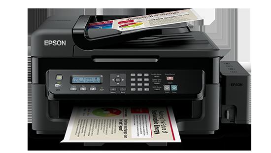 Máy in Epson L555, In, Scan, Copy, Fax, Tiếp mực ngoài chính hãng, kết nối Wifi