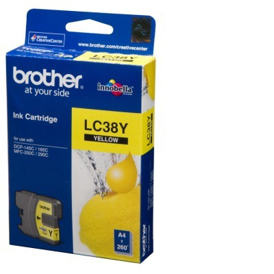 Mực in Brother LC 38 Yellow Ink Cartridge
